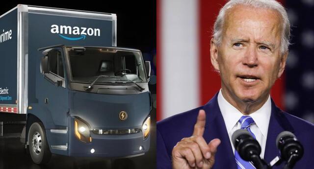 Amazon se ha apresurado a brindarle apoyo a la nueva gestión de Joe Biden para poder distribuir las dosis de la vacuna contra el COVID-19./Fuente: Composición.