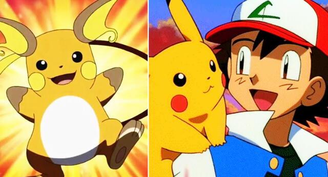 Ash y Pikachu.