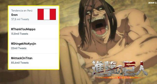 Shingeki no Kyojin se vuelve tendencia en Perú otra vez.