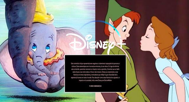 Disney+ elimina Peter Pan y Dumbo de los perfiles infantiles por ser 'racistas'.