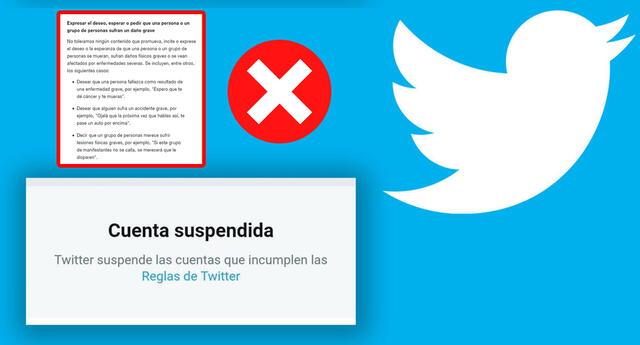 Twitter sanciona a usuarios que 'deseen el mal o la muerte'.