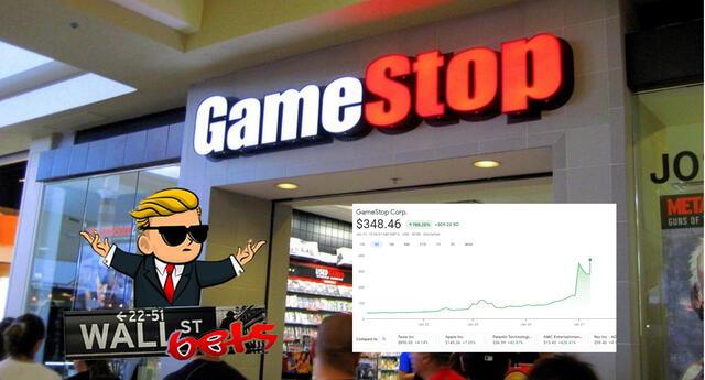 GameStop ha registrado un incremento histórico del valor de sus acciones en la bolsa gracias a WallStreetBets./Fuente: Getty Images.