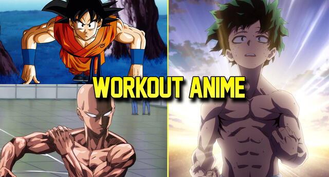 Así son las rutinas de ejercicios de los personajes anime (shonen).