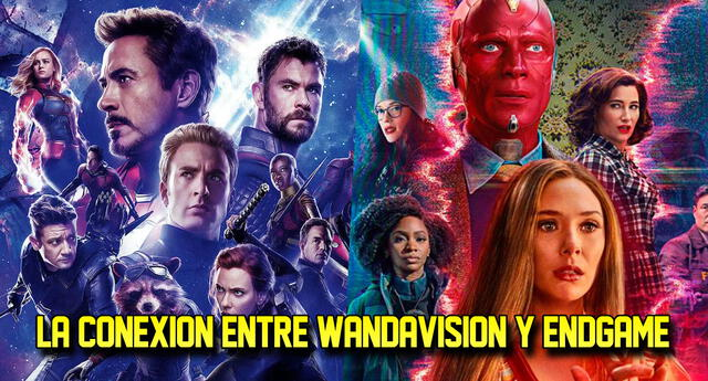 Sincronizan WandaVision y End Game.