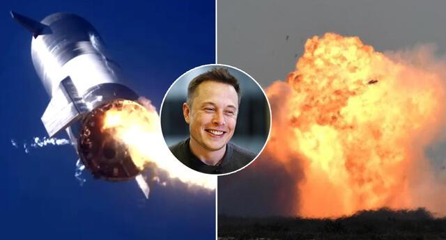 El Starship 9, nuevo prototipo de SpaceX se estrelló y explotó en llamas.