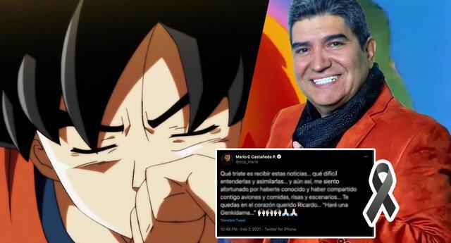 La voz de Goku se despide de Ricardo Silva con sentido mensaje que conmueve a los fans