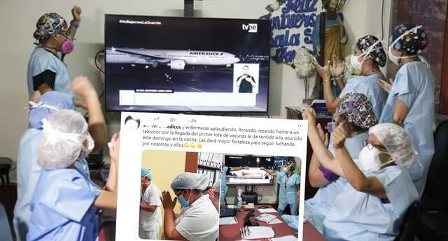 Fotos de Médicos celebrando la llegada de vacunas despertó alegría en redes sociales