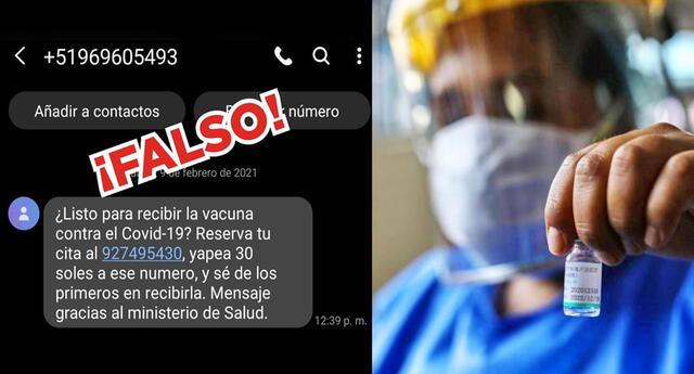 El Minsa advierte sobre estafas mediante mensajes de texto.