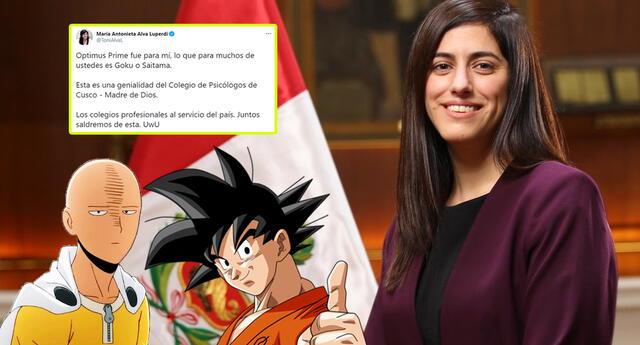 María Antonieta Alva se refiere a personajes de famosas series en Twitter.