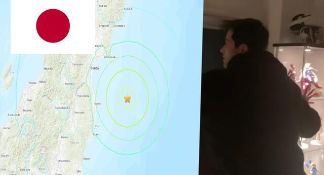 Youtuber peruano en Japón grabó preciso momento del terremoto de 7.1 que sacudió el país