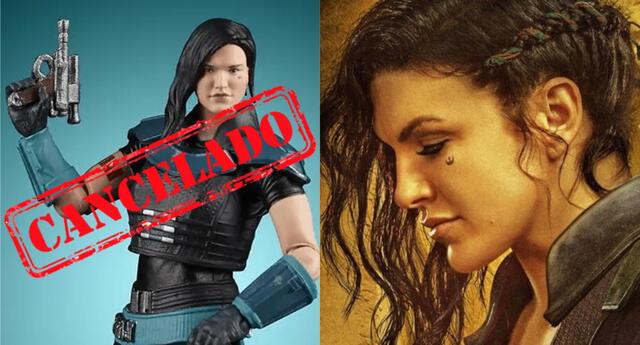 La polémica respecto a Gina Carano ha provocado que Hasbro opte por no fabricar más figuras del personaje que interpretaba en The Mandalorian./Fuente: Composición.