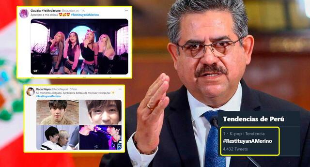 K-popers invaden el hashtag a favor de Merino con sus idols.