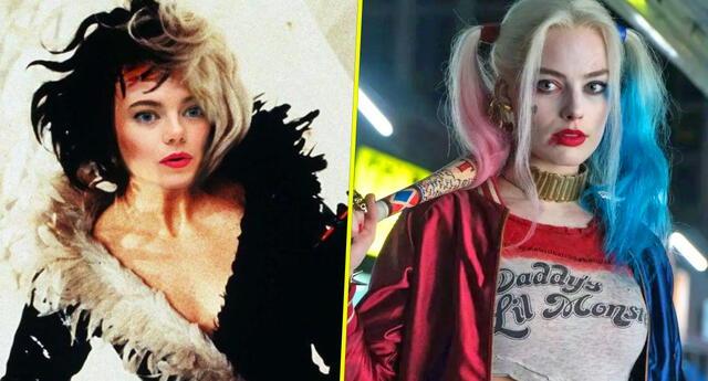 ¿Cruella (Emma Stone) y Harley Quinn ( Margot Robbie) se parecen?
