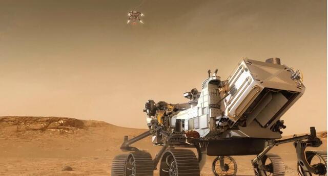 Con total éxito, el rover Perseverance ya se encuentra en la superficie marciana y ha iniciado la exploración del Planeta Rojo./Fuente: NASA.