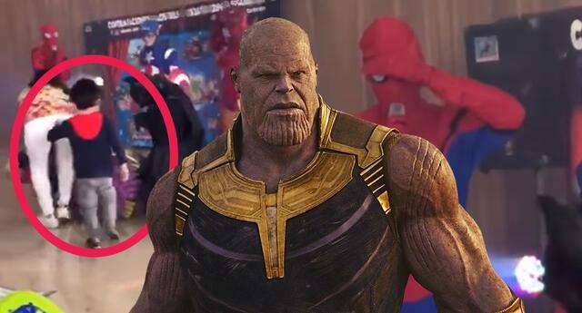 Niño ataca a Thanos para ayudar a los Vengadores y se vuelve viral
