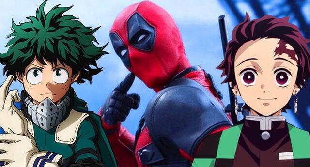 Deadpool hace referencia a Kimetsu no Yaiba y Boku no Hero Academia.