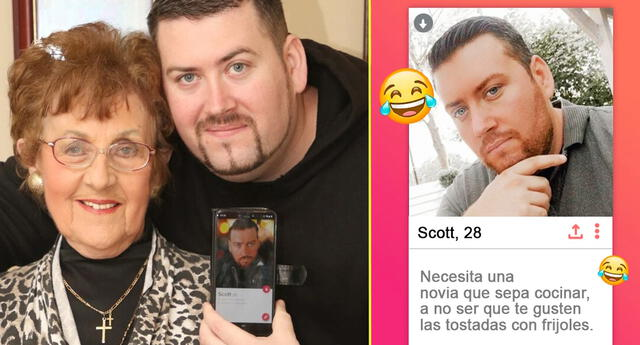 La abuela de Scott Lefevre se cansó de que su nieto estuviera soltero y le creó un perfil de Tinder.