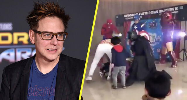 "Director James Gunn reacciona a video de niño derrotando a Thanos y lo ""acusa"" de filtración"