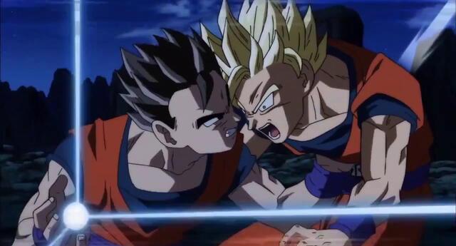 Así se vería la pelea entre Goku y Gohan al estilo de Dragon Ball Z.