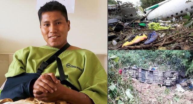 El técnico de vuelo boliviano se salvó de dos tragedias.