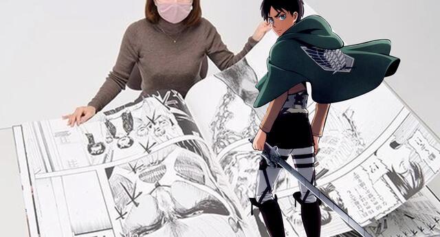 Shingeki no Kyojin lanza manga especial del tamaño de un Titan y vas a quererlo
