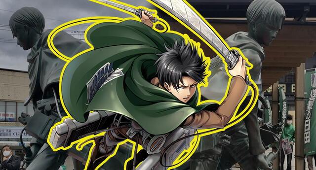 """Shingeki no Kyojin inauguró la estatua de Levi Ackerman """"El hombre más fuerte de la humanidad"""""""