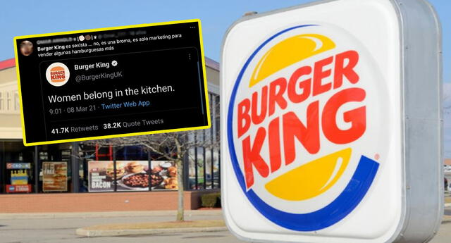 Famosa cadena de comida rápida es criticada por desatinado tuit en el Día de la Mujer