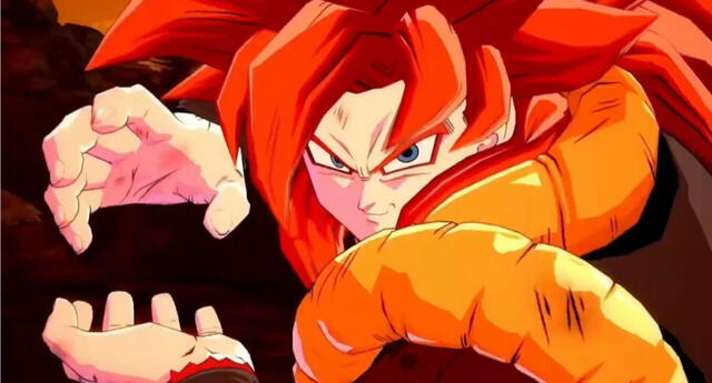 Gogeta SSJ4 es la nueva adición al roster de luchadores en Dragon Ball FighterZ./Fuente: Bandai Namco.