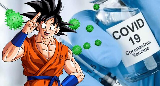Goku es tomado como representante para campaña de vacunación contra el COVID-19.