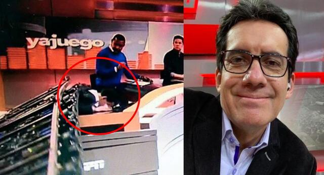 Una pantalla gigante cayó encima de un periodista de ESPN.