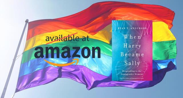 Amazon ha decidido no vender más libros que califquen a la identidad LGBTQ+ como una enfermedad mental, siendo Cuando Harry se convirtió en Sally el primero de estos./Fuente: Composición.