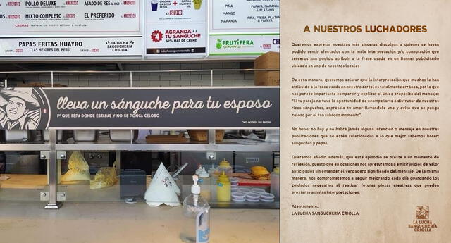 A través de sus redes sociales el restaurante peruano envió este comunicado.