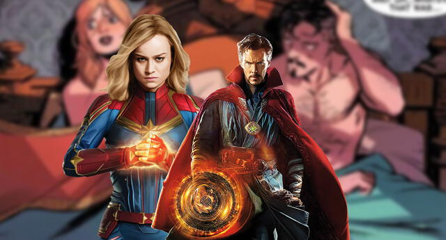 Capitana Marvel y Dr. Strange son la nueva pareja de Marvel, tras apasionada noche