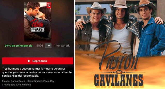 Regreso de Pasión de Gavilanes a Netflix ha sido un éxito.
