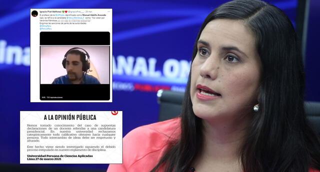 La UPC rechazó los comentarios del profesor que pedía no votar por Verónika Mendoza.