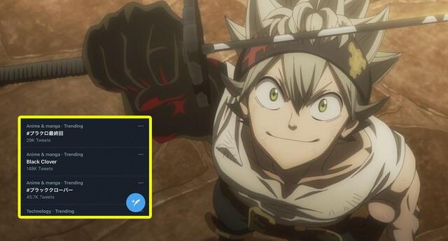 ¡Hasta la próxima! El anime de Black Clover se despide siendo tendencia mundial