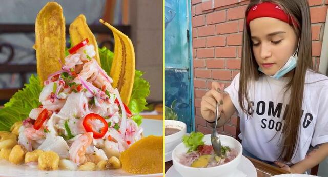 Antho Tricerri prueba el ceviche peruano pero se confunde con los ingredientes.