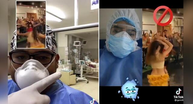 Médicos indignados al ver grabación de videoclip de grupo musical.