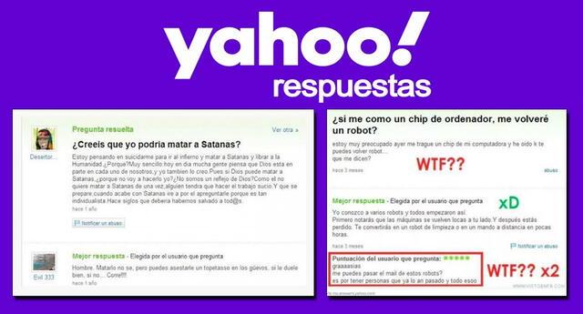 Yahoo! Respuestas y las preguntas más extrañas que se hicieron en su web.