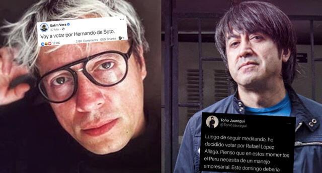 Toño Jauregui y Salim Vera votarán por candidatos distintos y les hacen memes en redes