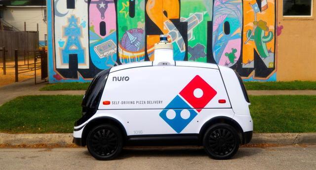 La cadena Domino's se ha aliado con Nuro para probar un nuevo sistema autónomo de entregas que beneficiará a sus clientes./Fuente: Domino's.