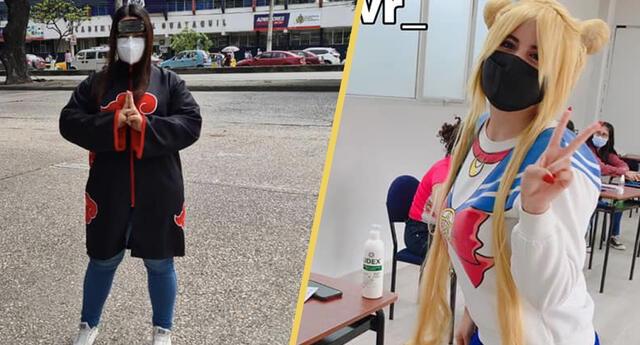 ¡Otakus presentes! Fans del anime invadieron las elecciones con cosplay de sus series favoritas