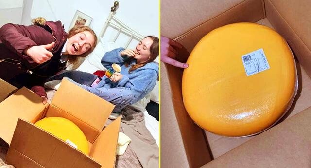 Jovencita recibió una enorme rueda de queso en su primera cita.