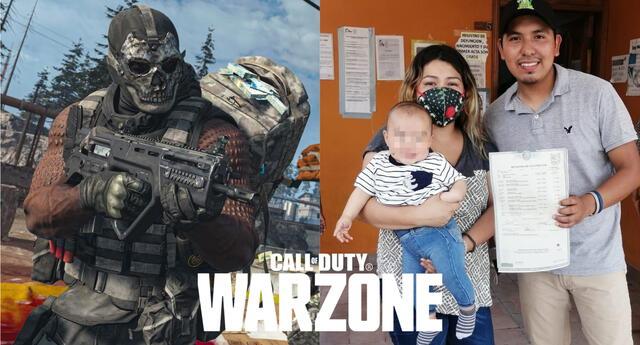 Eddie Machuca, un fan mexicano de la saga Call of Duty, decidió nombrar a su hijo Warzone en honor al Battle Royale de Activision./Fuente: Composición.