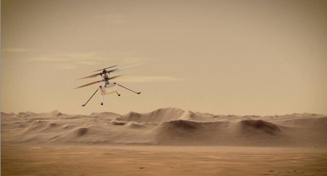 La NASA realiza por primera vez un vuelo en Marte, gracias al Ingenuity