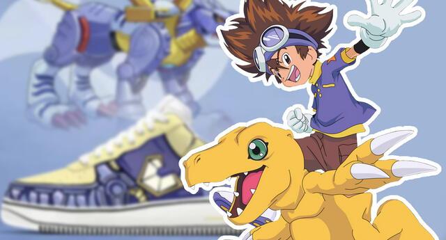 Digimon lanza su línea de zapatillas al estilo de Greymon y sus amigos