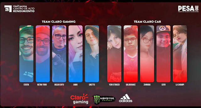 Team Claro CAR fue el ganador del showmatch de influencers Claro gaming.