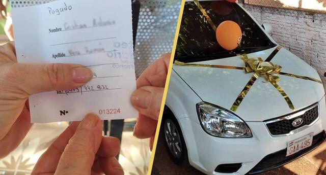 ¡Un gran gesto! Familia rifa auto para tratamiento de COVID y el ganador devuelve premio