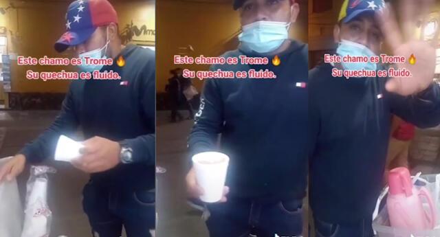 Vendedor venezolano sorprende hablando quechua fluido a su cliente y se viraliza