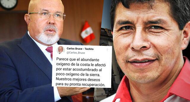 Carlos Bruce es calificado de clasista y prejuicioso por tuit sobre Pedro Castillo